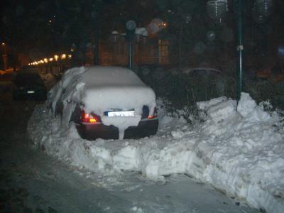 Las primeras nieves de este Invierno en Bucarest